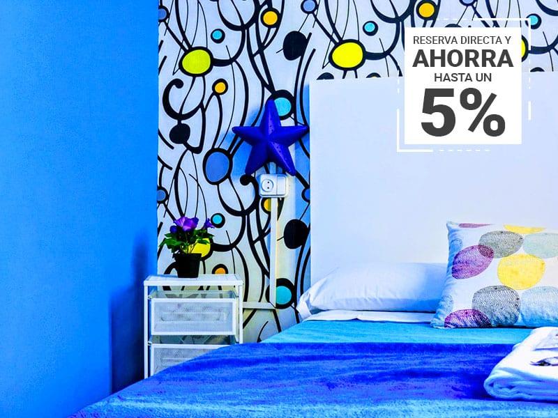 Coloridas y limpias habitaciones